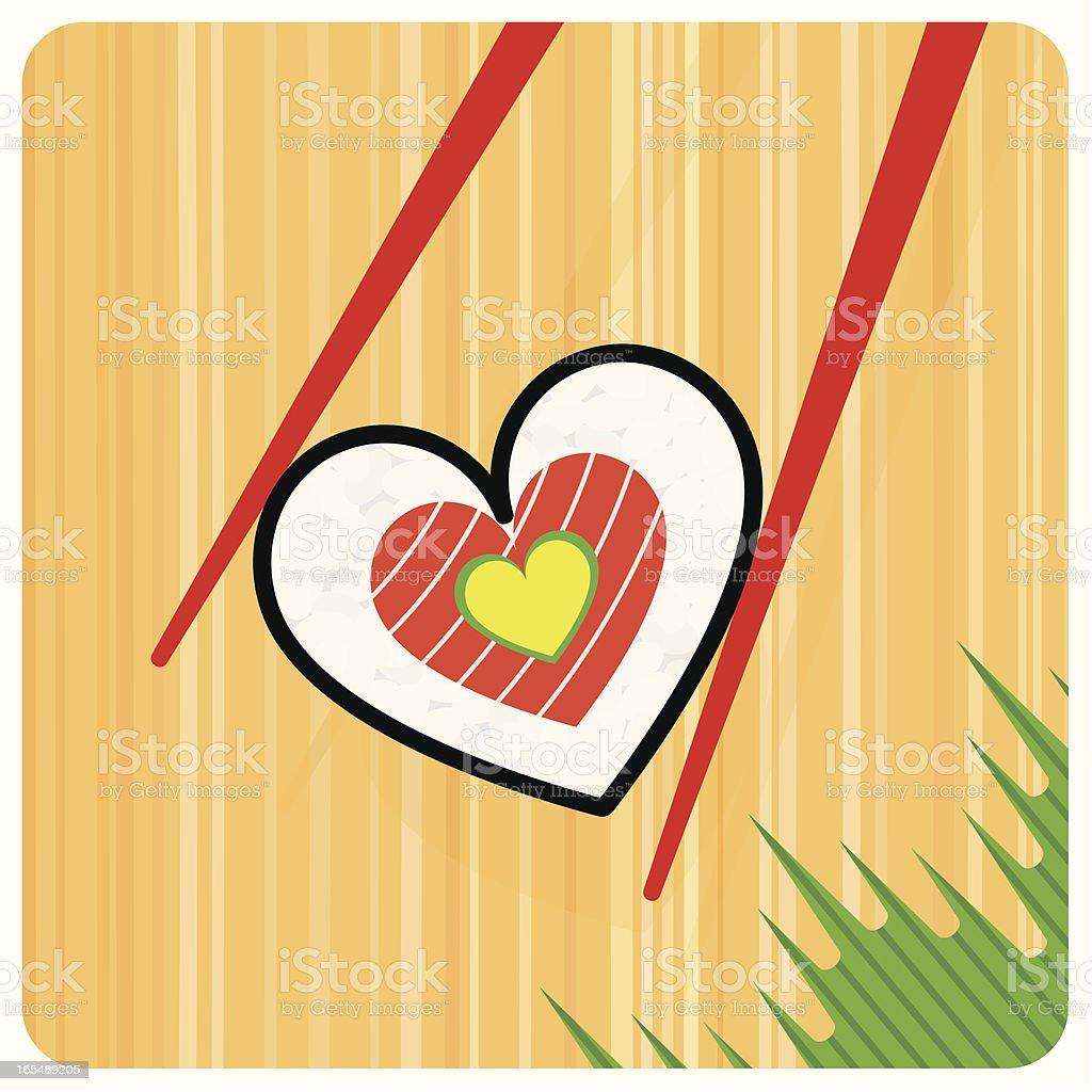 SUSHI LOVE vector art illustration
