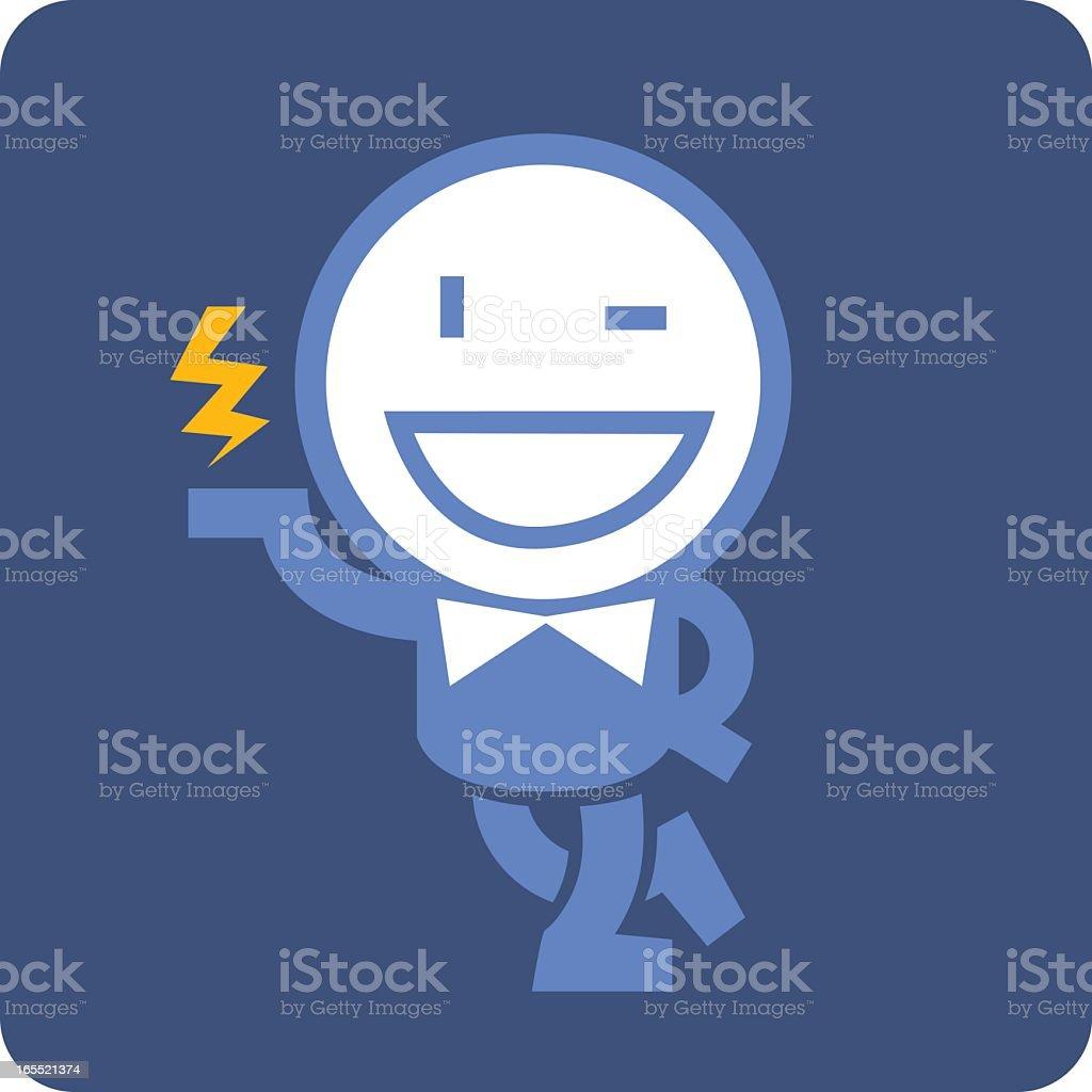 ELECTRIC MAN royalty-free stock vector art