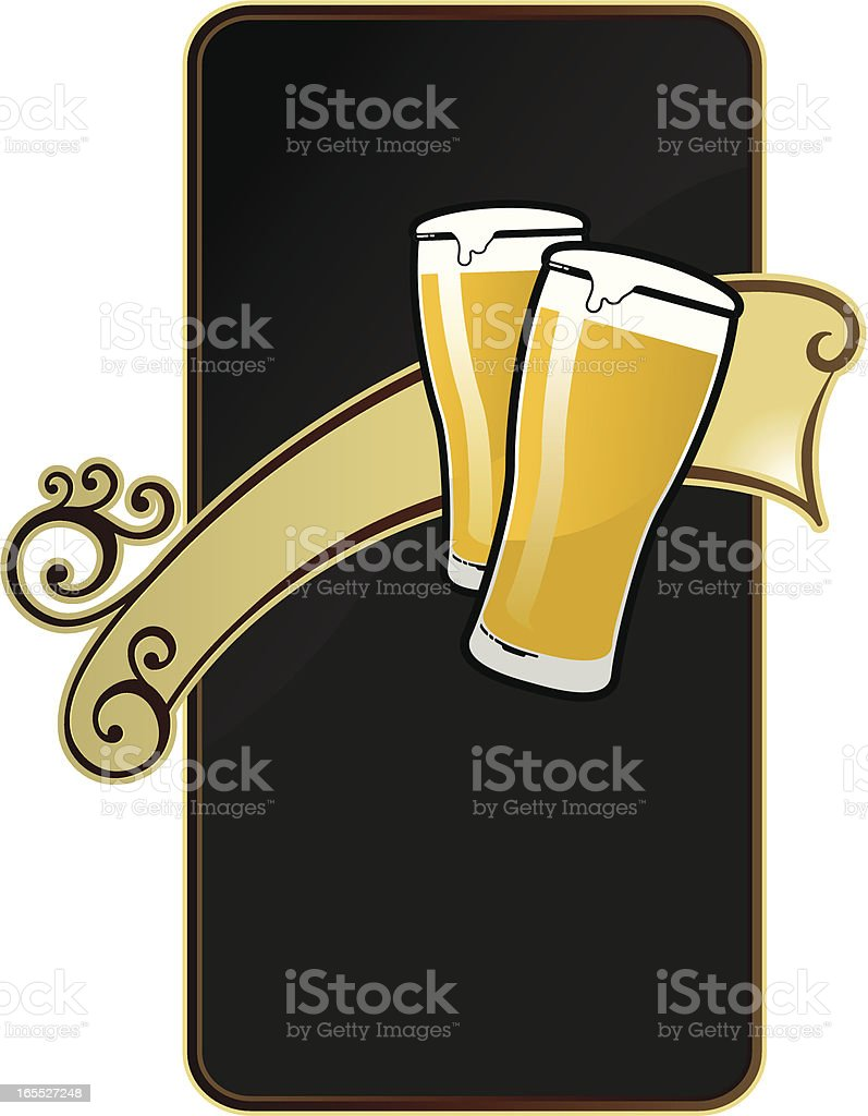 HAPPY  HOUR BILLBOARD vector art illustration