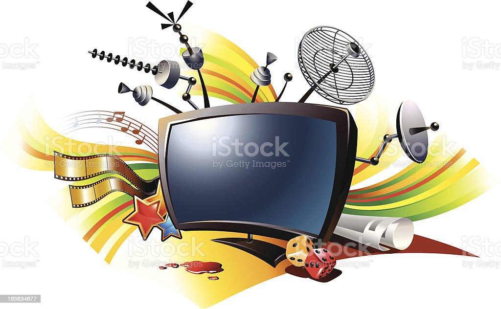 TV vector art illustration