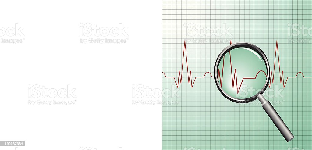 ECG royalty-free stock vector art