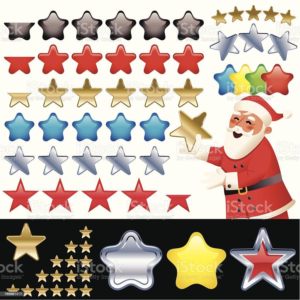 CHRISTMAS STARS royalty-free stock vector art