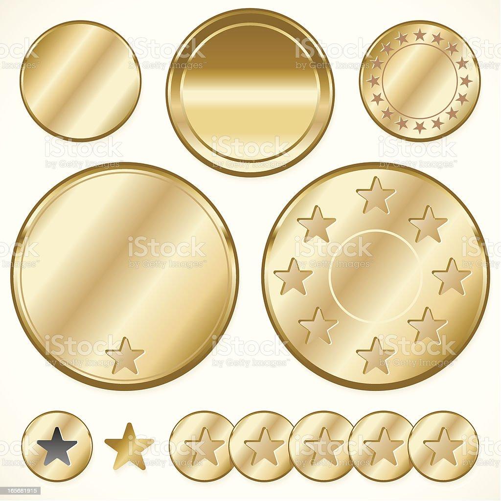 GOLD TOKENS vector art illustration