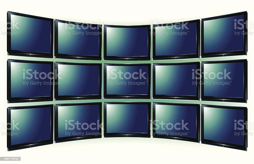 LCDTV royalty-free stock vector art