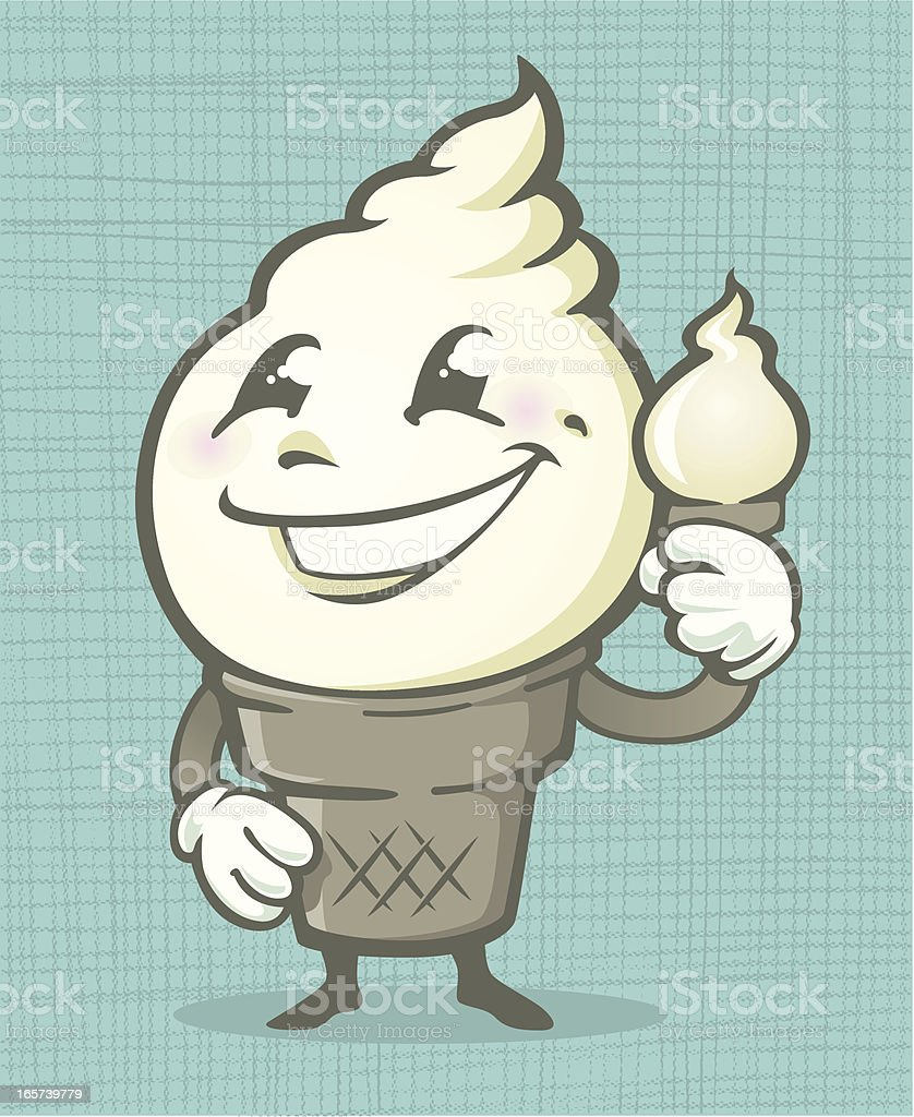 RETRO FROZEN CUSTARD BOY vector art illustration