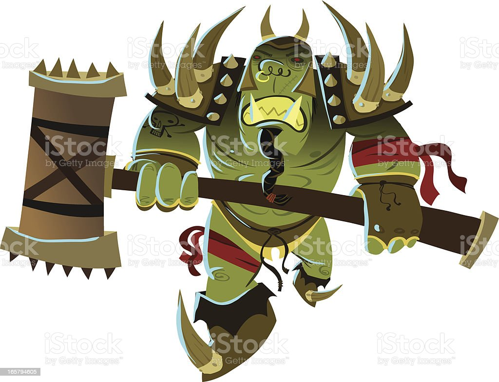 ORC SMASH! royalty-free stock vector art