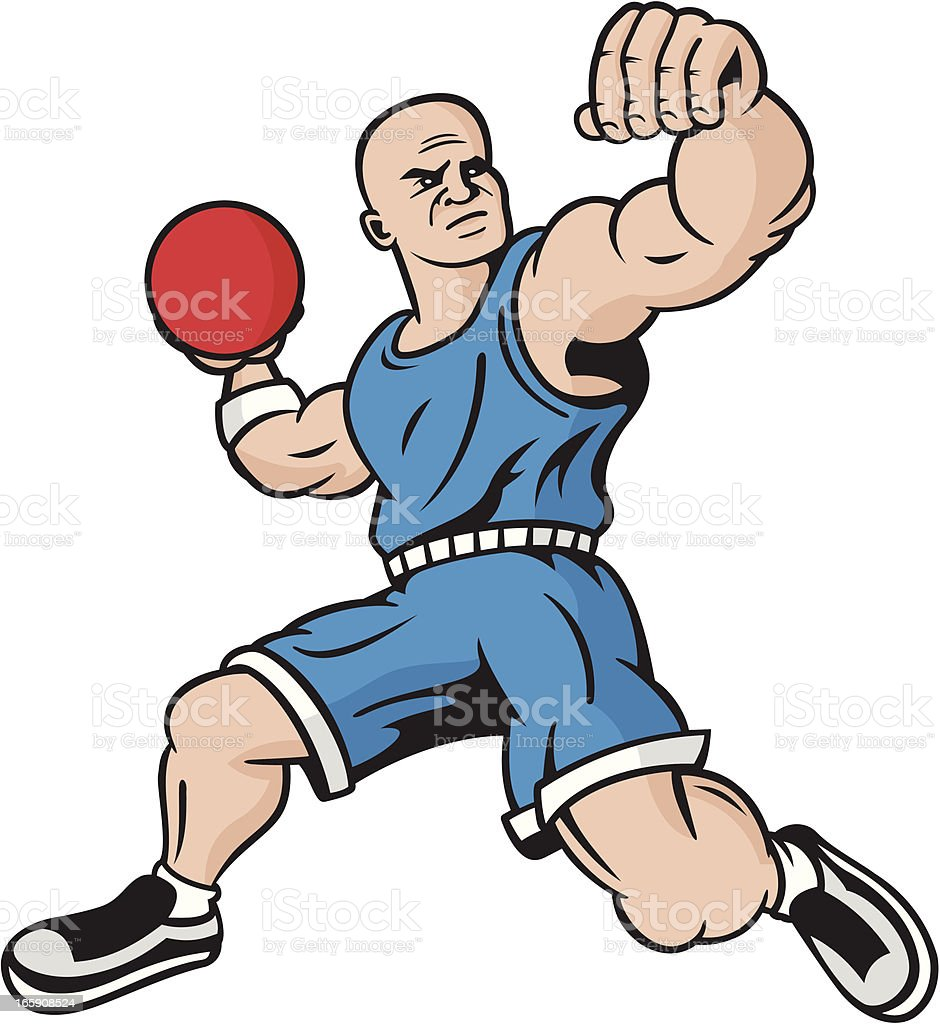 Clip Art Dodgeball Clipart dodgeball player stock vector art 165908524 istock royalty free art