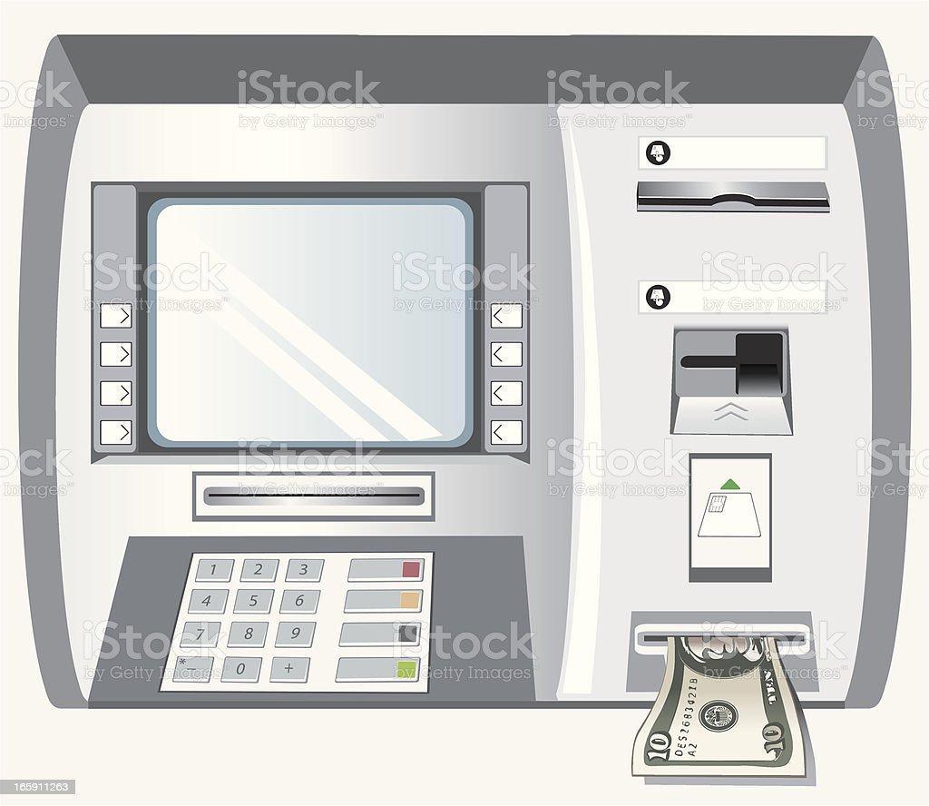 ATM royalty-free stock vector art