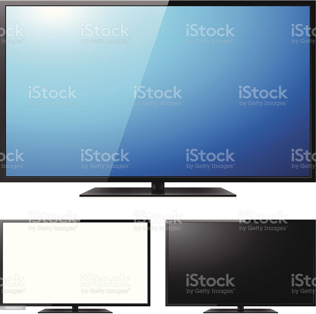 LCD TV vector art illustration