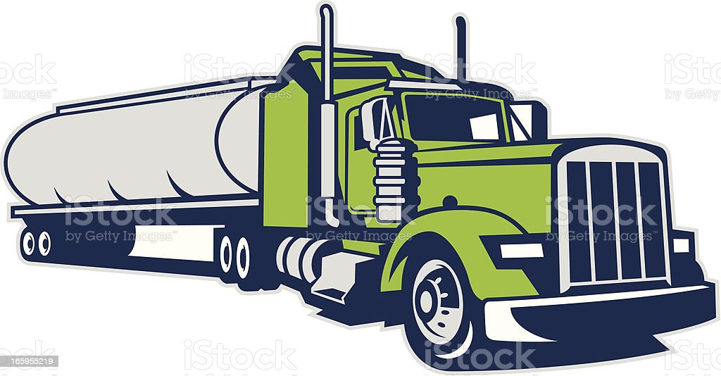 TANKER TRUCK vector art illustration
