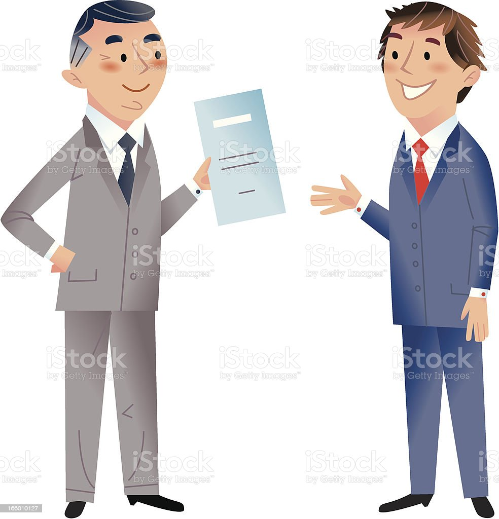 THE CONTRACT royalty-free stock vector art