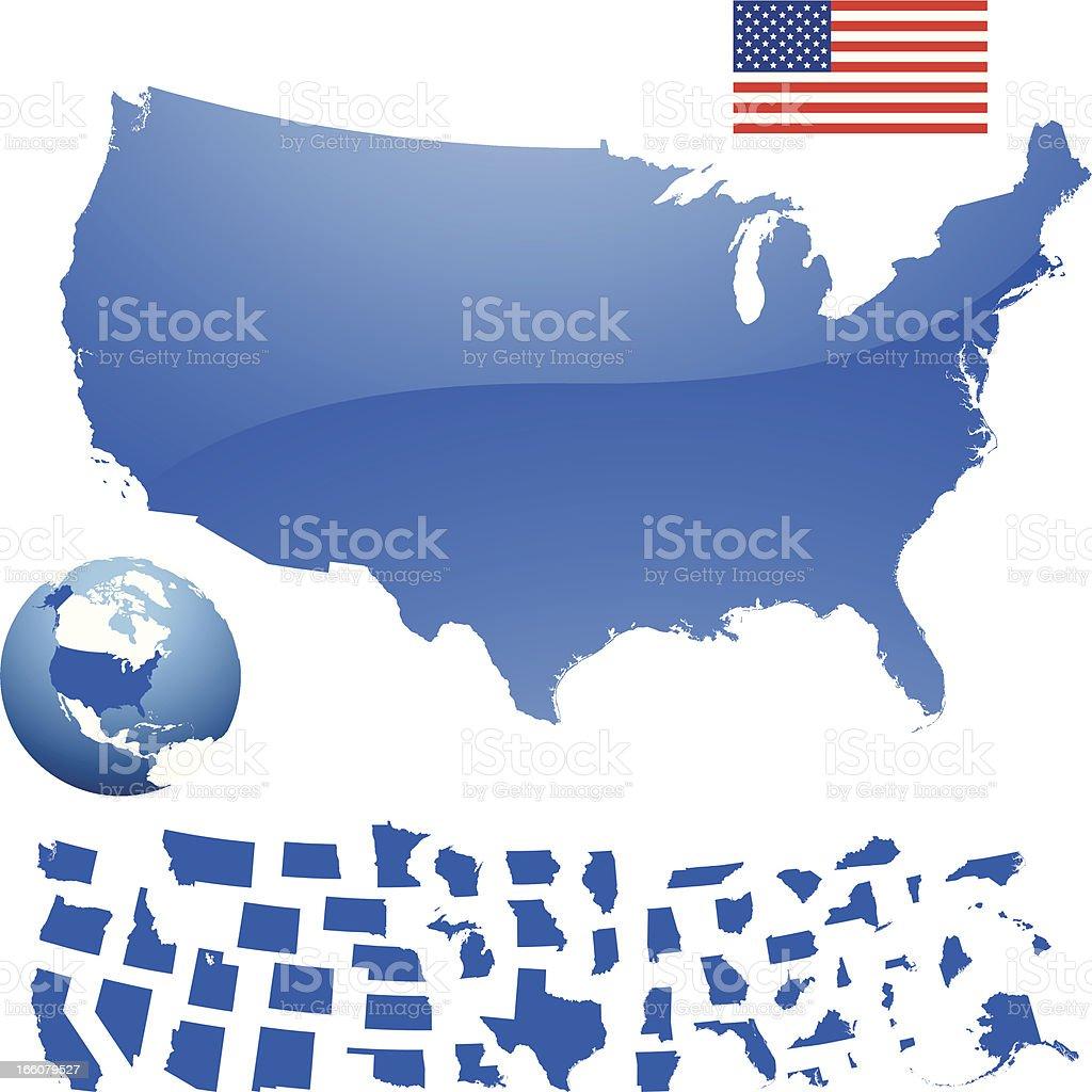 U.S.A vector art illustration