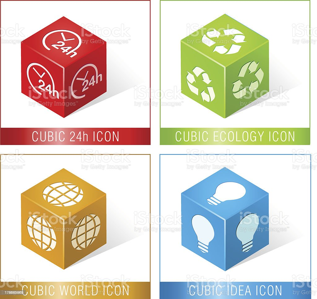 CUBIC ICONS royalty-free stock vector art