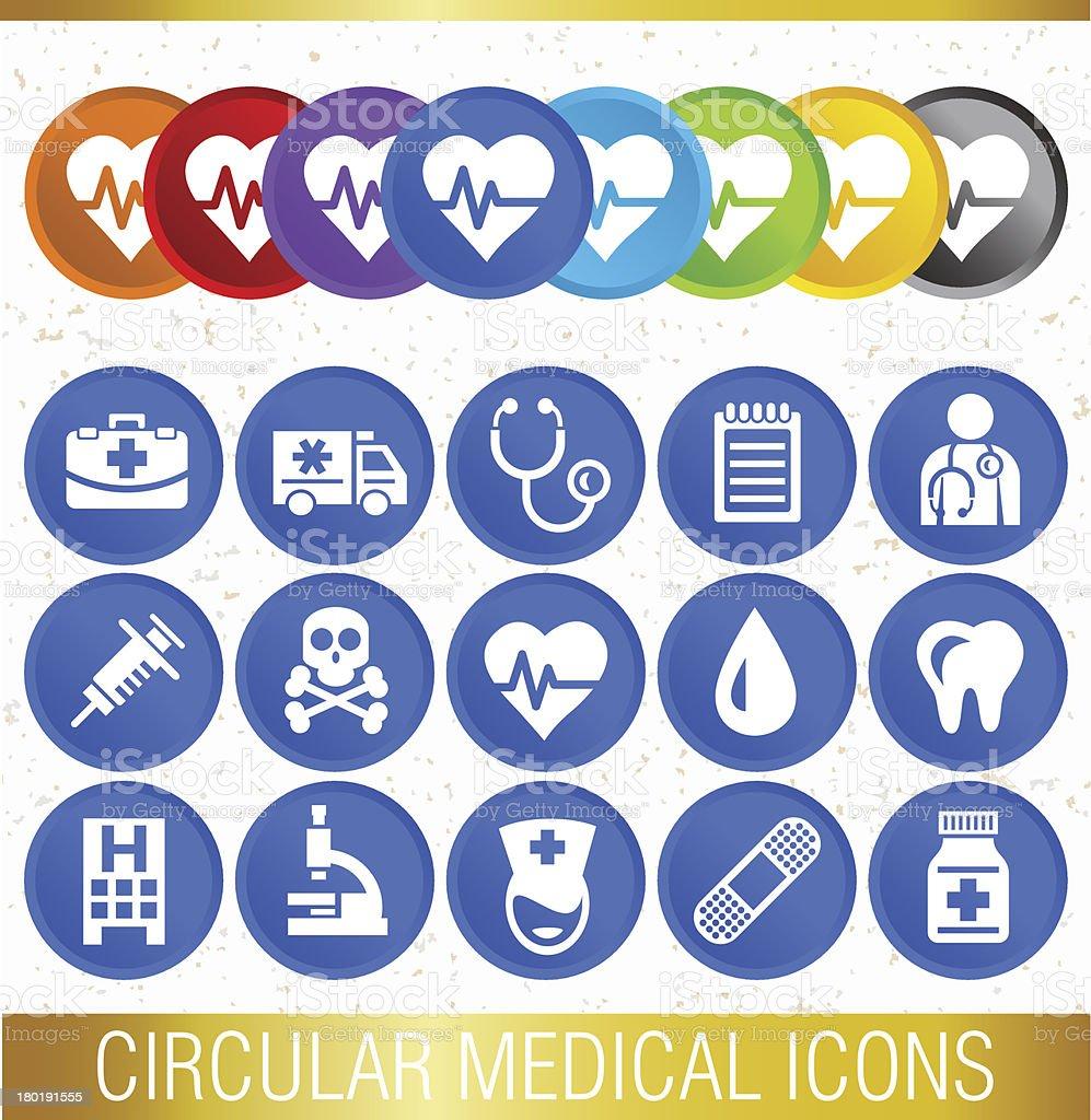 CIRCULAR MEDICAL ICONS royalty-free stock vector art