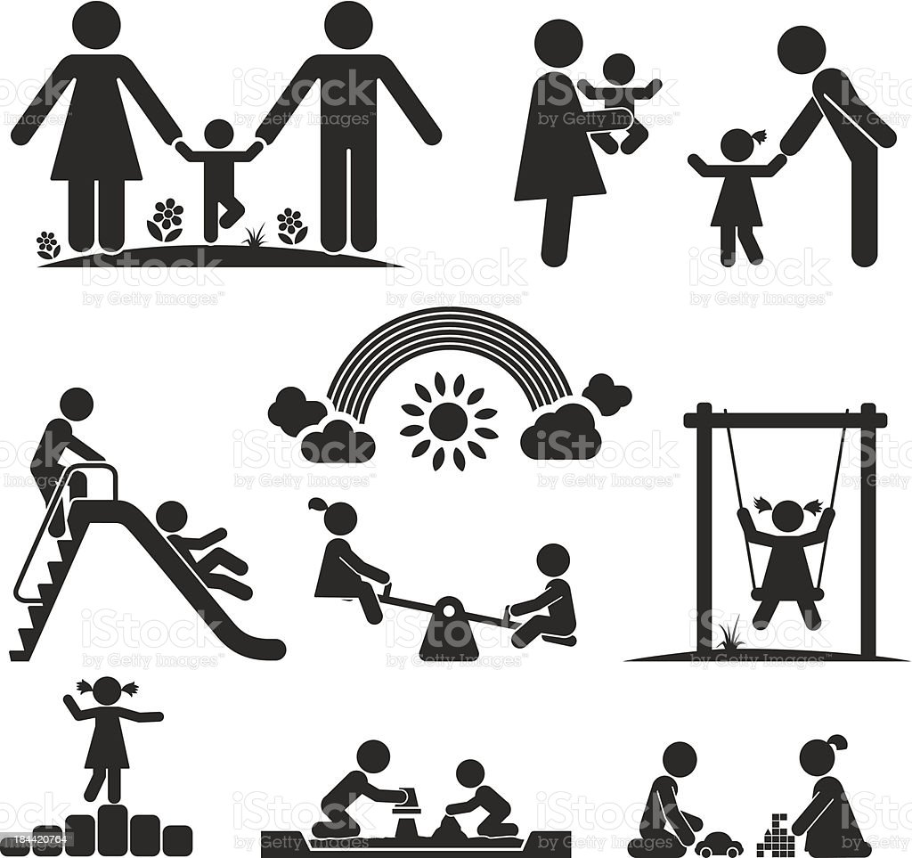 CHILDHOOD vector art illustration