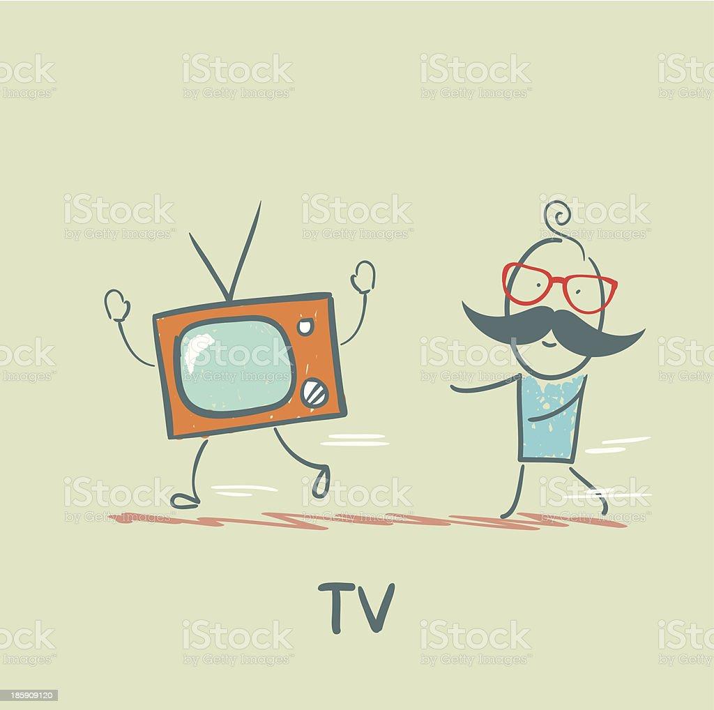 TV royalty-free stock vector art