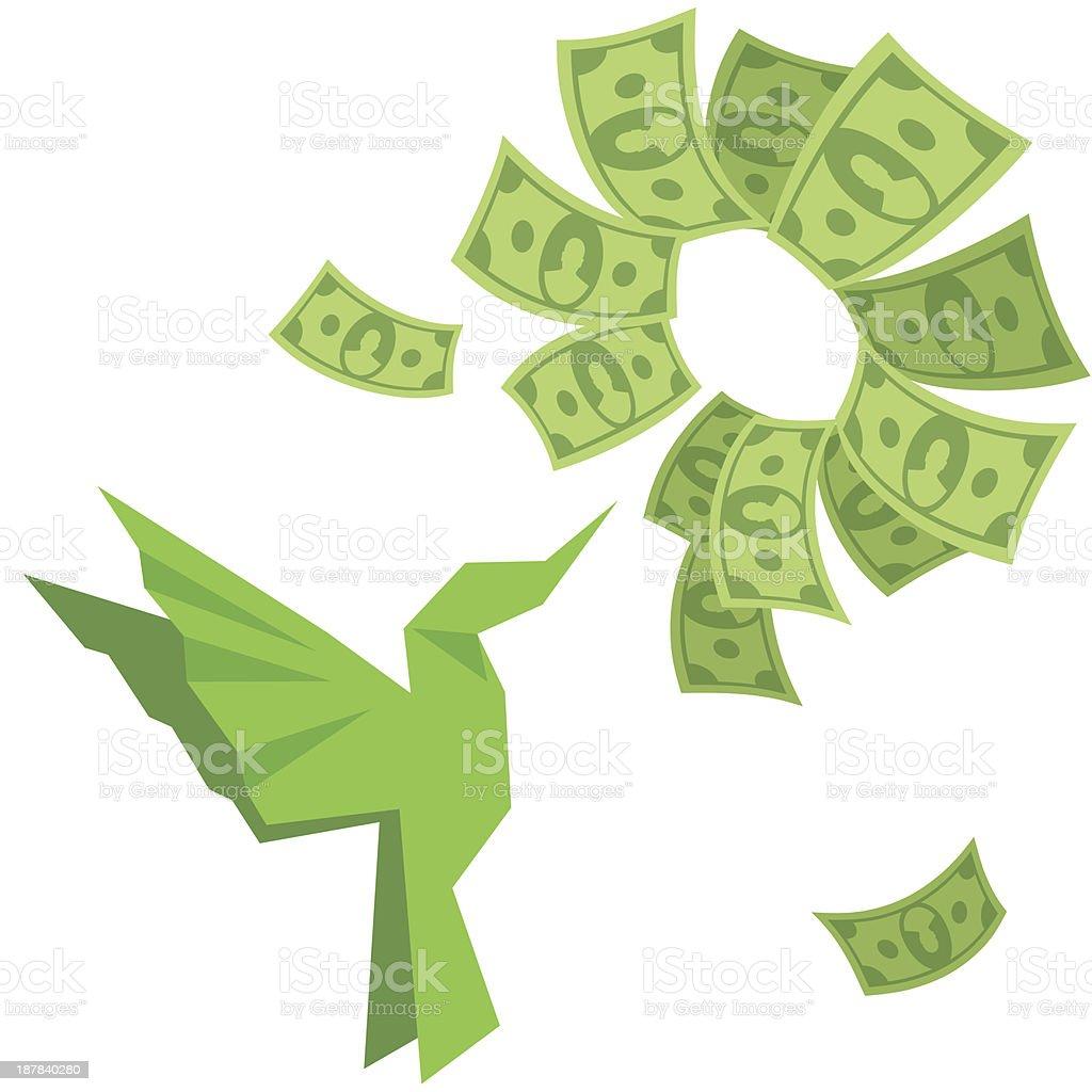 MONEY FLOWER royalty-free stock vector art