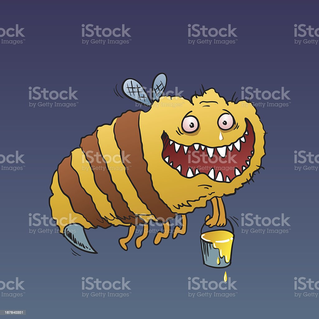 GIANT BEE vector art illustration