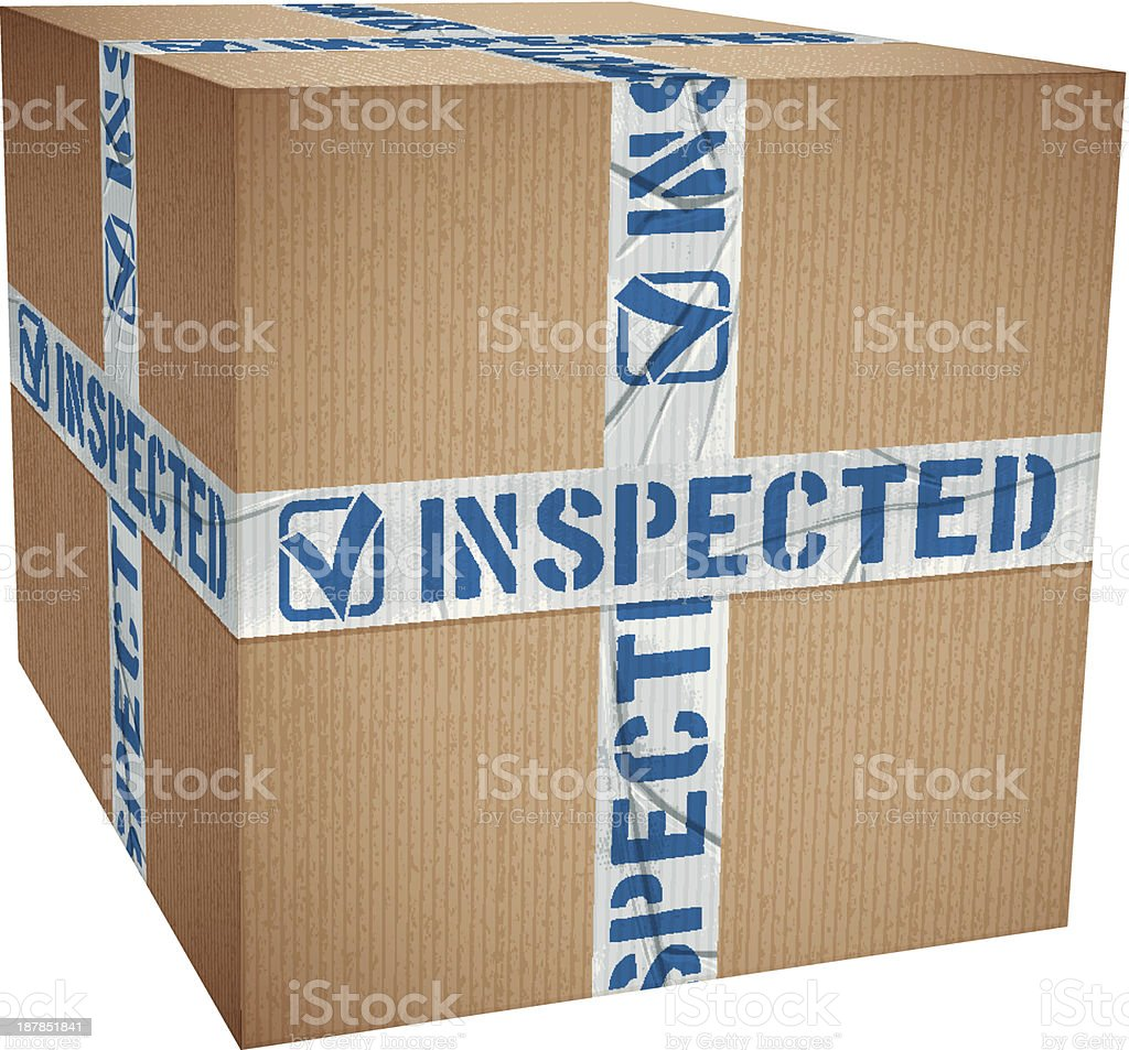 INSPECTED royalty-free stock vector art