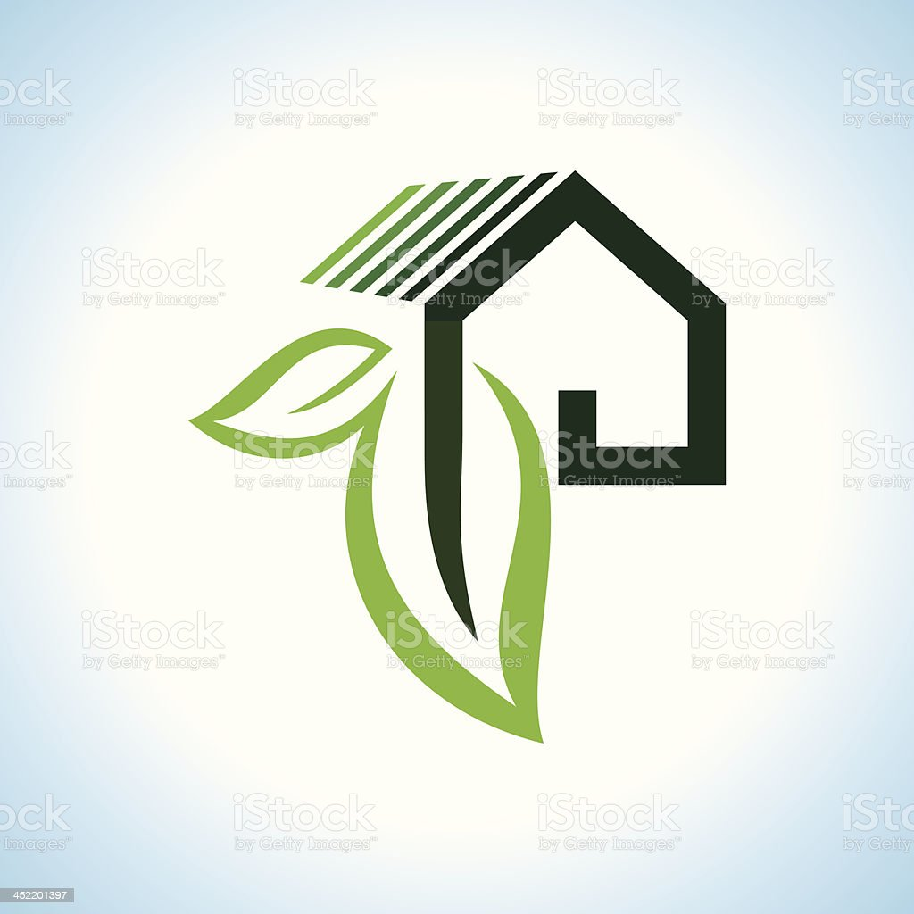 BIO GREEN HOUSES ICONS vector art illustration