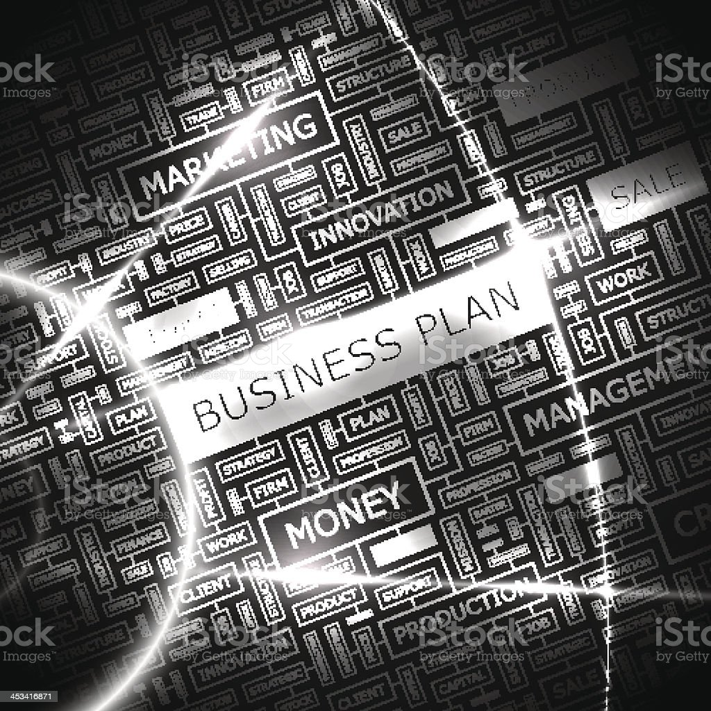 BUSINESS PLAN royalty-free stock vector art