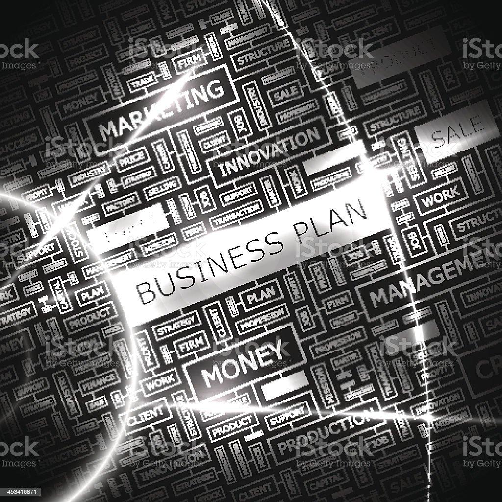 BUSINESS PLAN vector art illustration