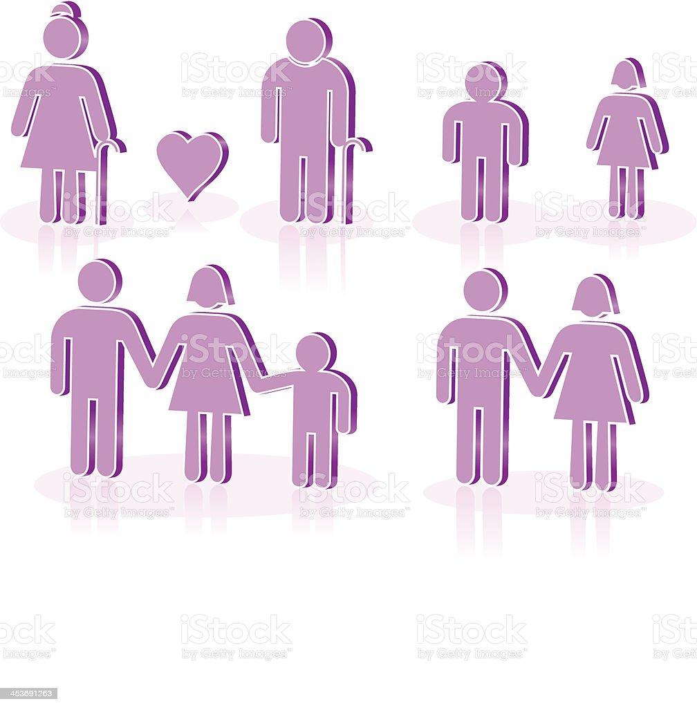 FAMILY ICONS royalty-free stock vector art
