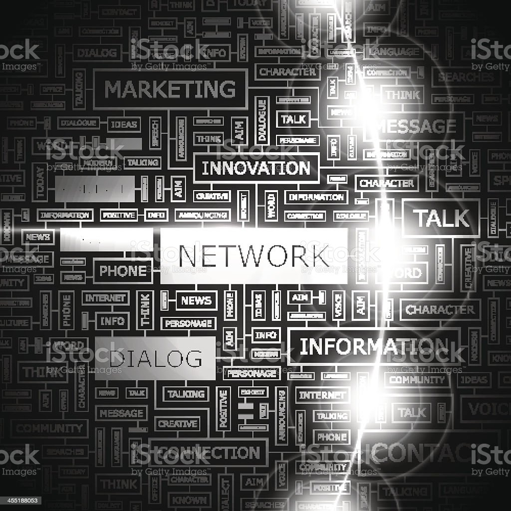 NETWORK vector art illustration