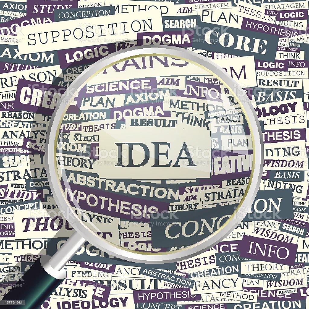 IDEA royalty-free stock vector art
