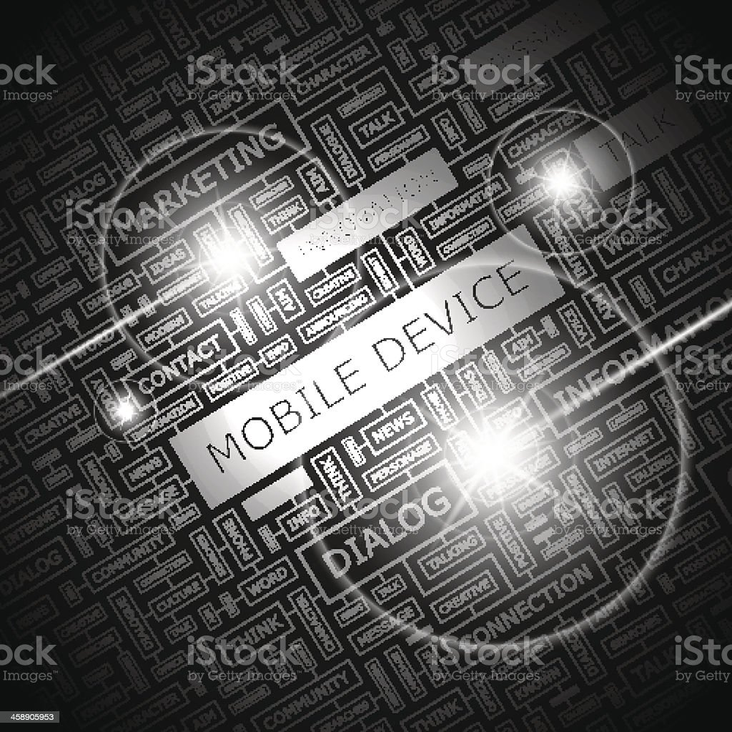 MOBILE DEVICE royalty-free stock vector art
