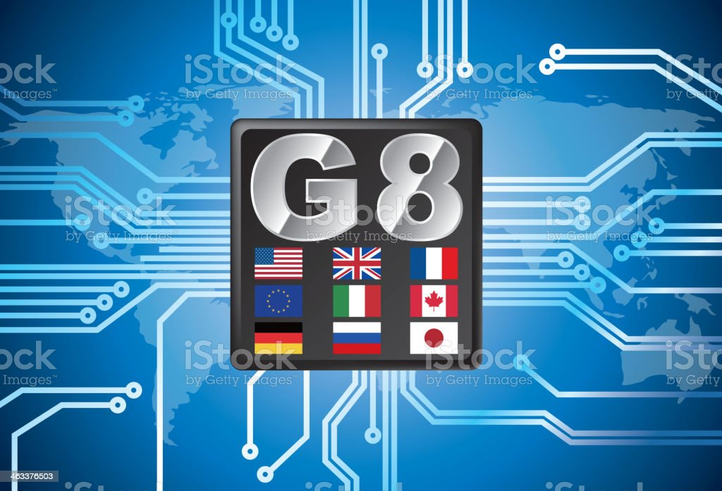 G8 royalty-free stock vector art