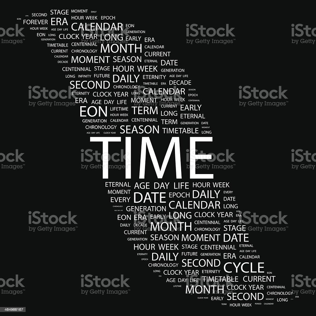 TIME. vector art illustration