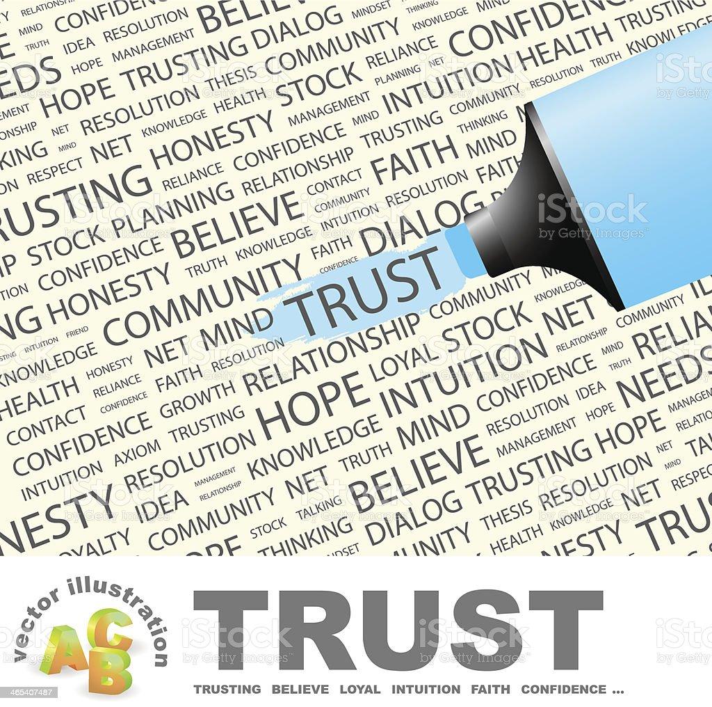TRUST vector art illustration
