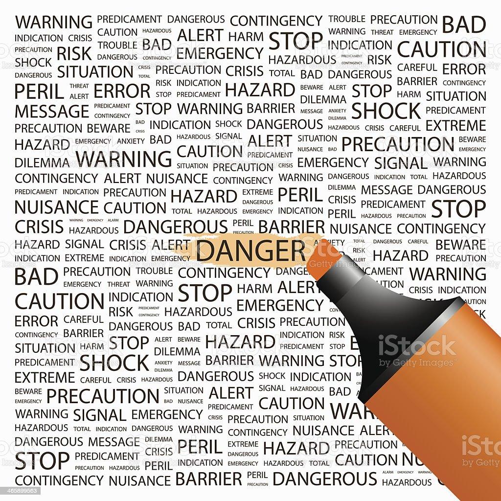 DANGER. vector art illustration