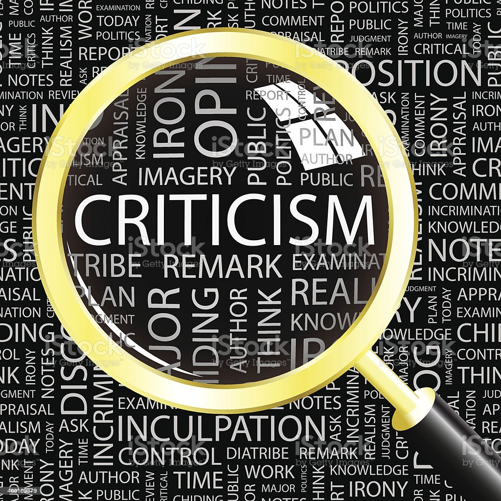 CRITICISM. royalty-free stock vector art
