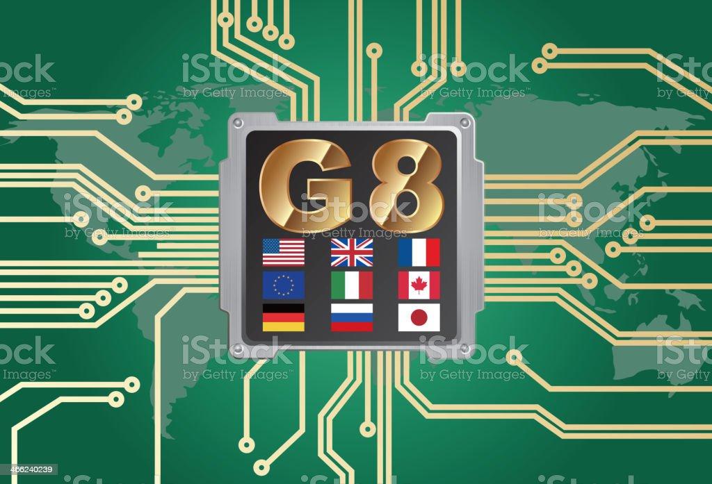 G8(International organization) royalty-free stock vector art