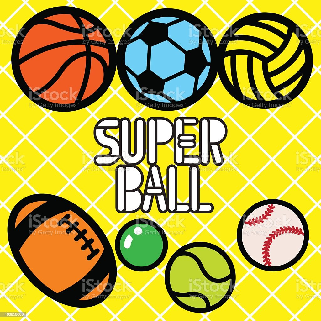 SUPER BALL vector art illustration