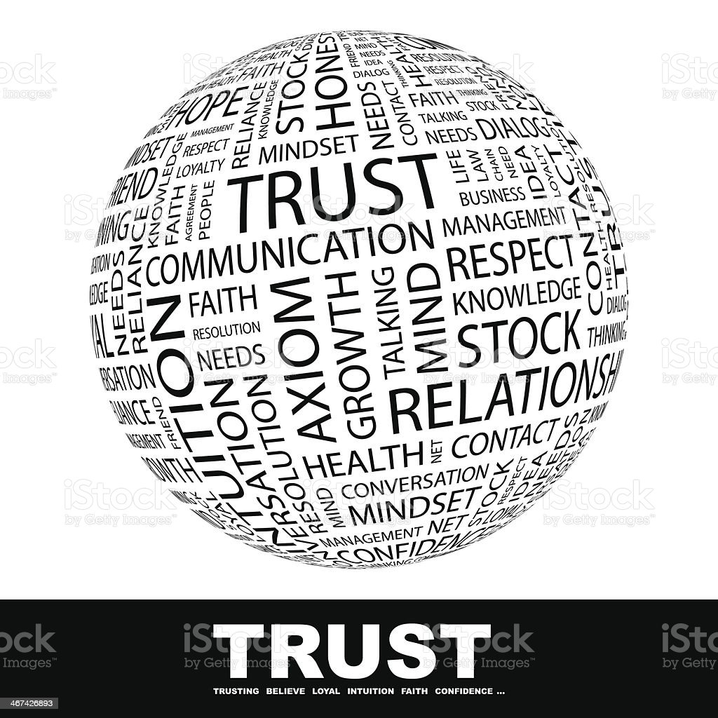 TRUST royalty-free stock vector art