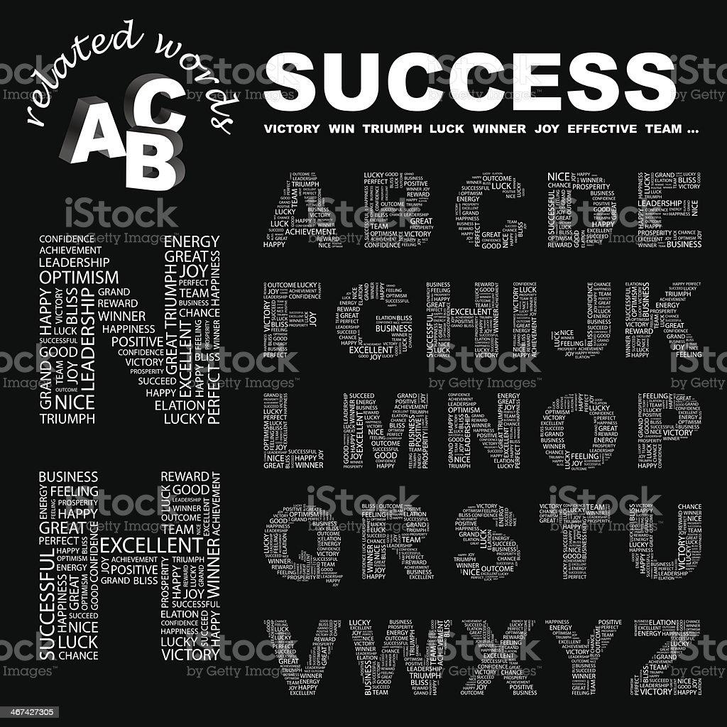 SUCCESS. vector art illustration
