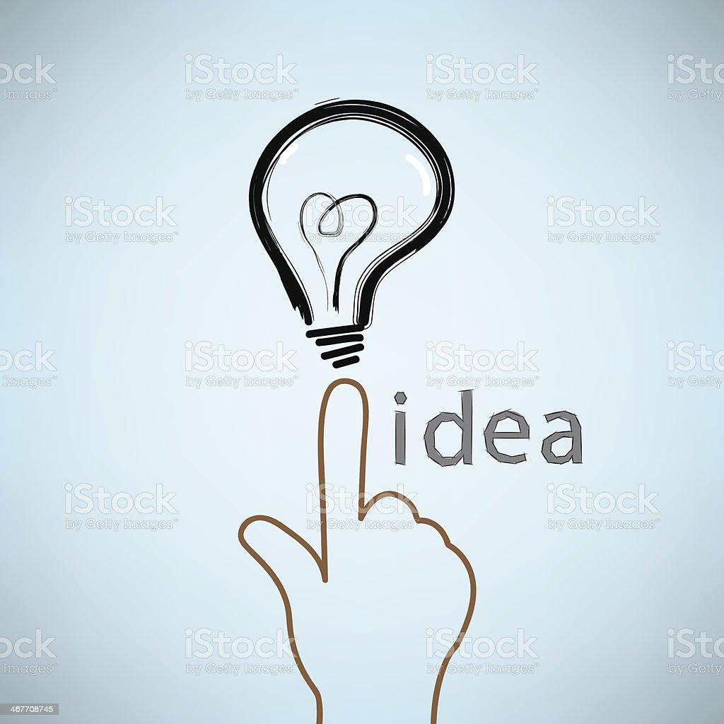 BULB ICON WITH IDEA CONCEPT royalty-free stock vector art