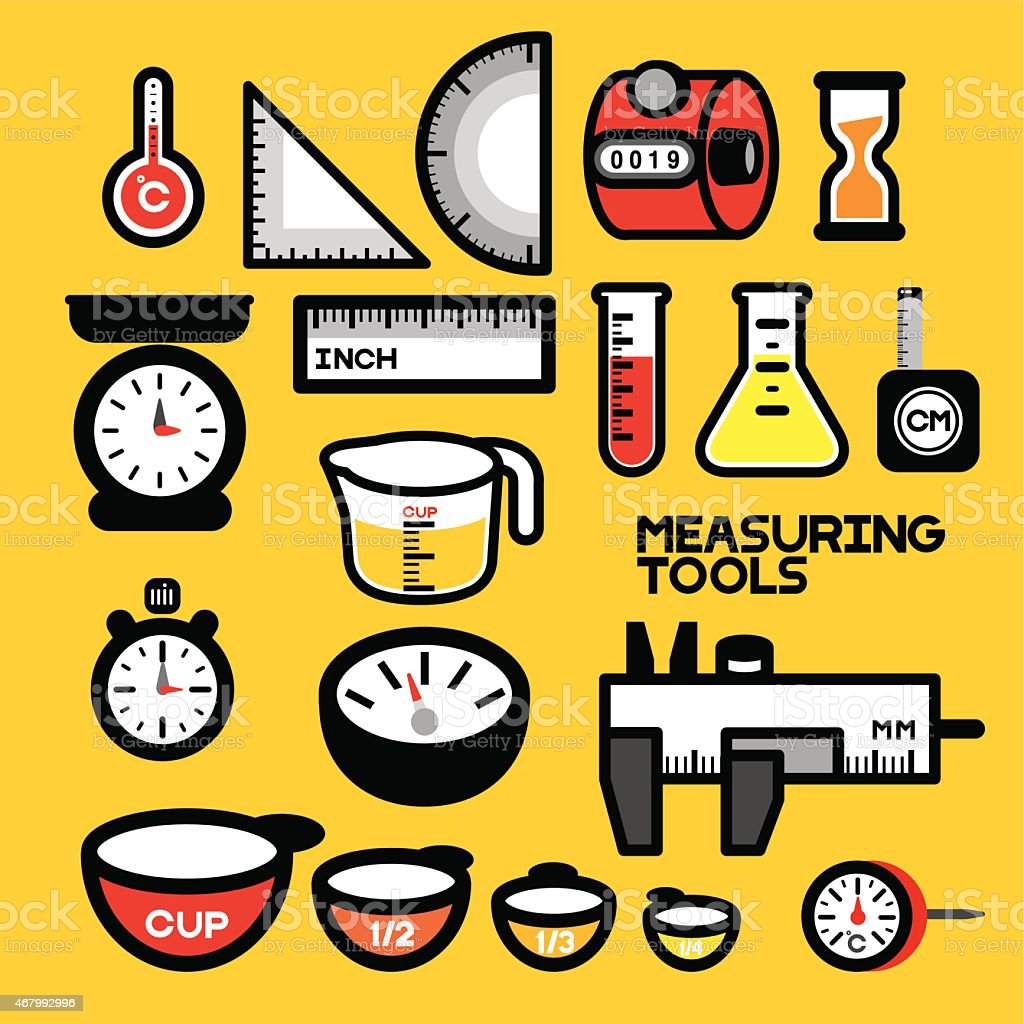 MEASURING TOOLS vector art illustration
