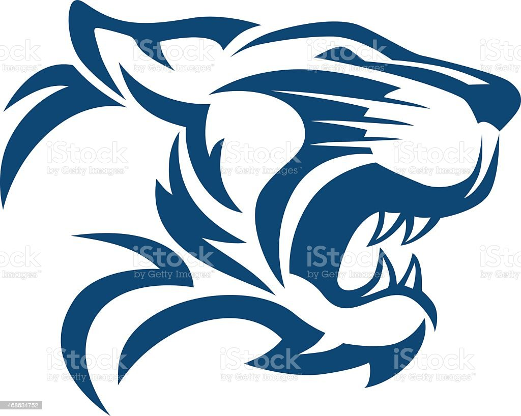 TIGER HEAD ABSTRACT vector art illustration