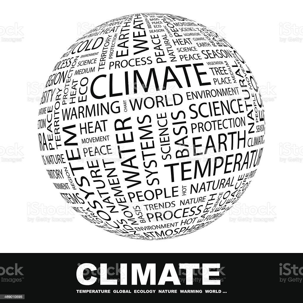 CLIMATE. vector art illustration