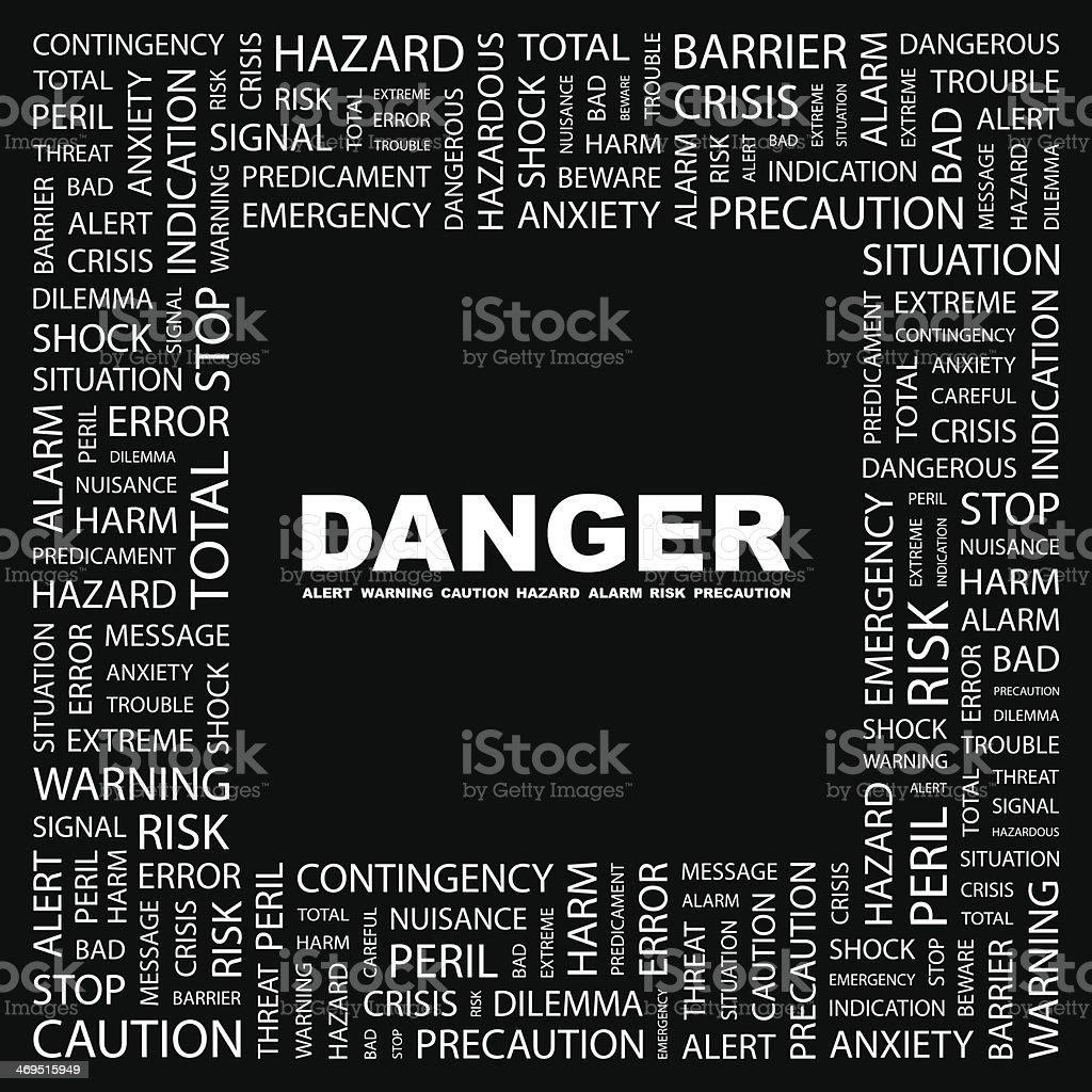 DANGER. royalty-free stock vector art