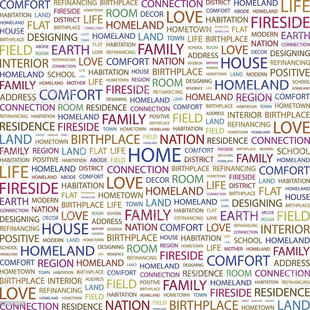 HOME. vector art illustration