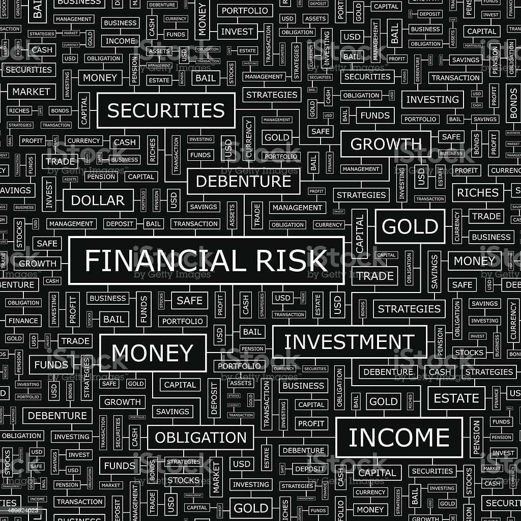 FINANCIAL RISK royalty-free stock vector art
