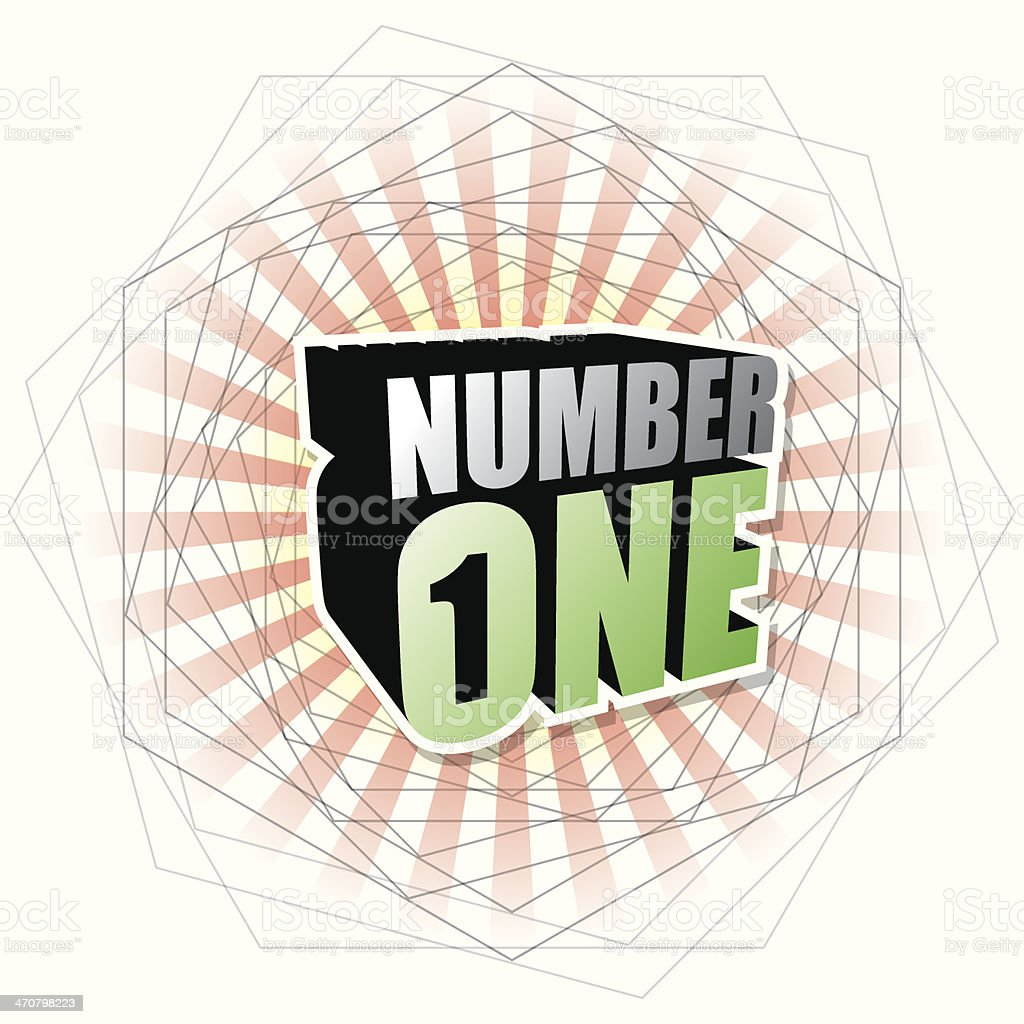 NUMBER ONE CONCEPT VECTOR royalty-free stock vector art