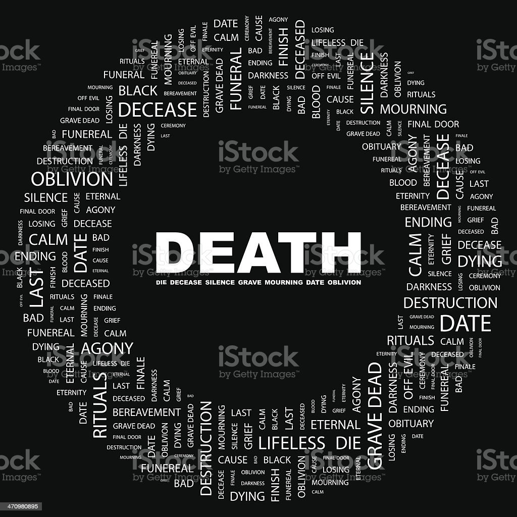 DEATH. royalty-free stock vector art