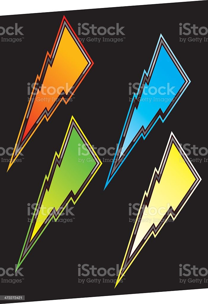 BOLTS royalty-free stock vector art