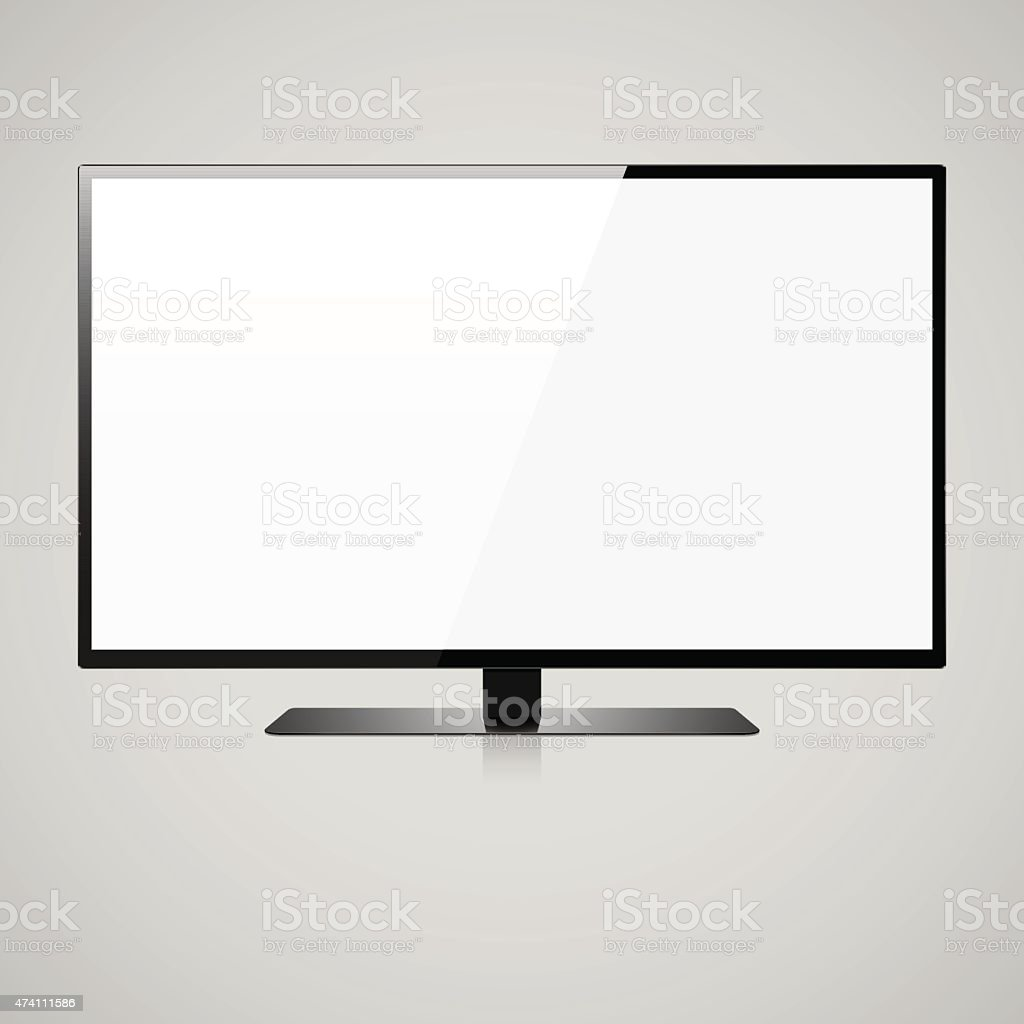 TV vector art illustration